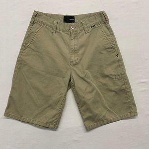 Hurley Beige Shorts Men's Size 29 Cotton/Polyester